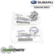 1985-2017 Subaru Magnetic Oil Drain Plug & Gasket Impreza Legacy Justy OEM NEW