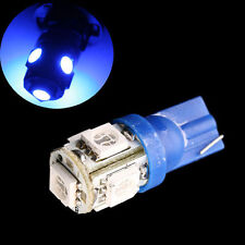 2 blue T10 5W wedge globe 5 SMD LED Car Light Bulbs