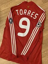 Liverpool Home Shirt 2008/09 Original Torres 9 Champions League Long Sleeved M