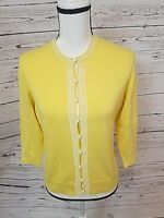 NWT Lilly Pulitzer Cardigan Sweater, Yellow, Size Medium, Retails $158