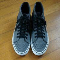VANS Hightop Sneakers Grey w Black Stripe 721454 Size Men's US 8.5 Women's US 10