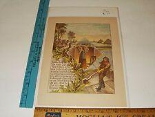 Rare Antique Original VTG 1887 Biblical Christmas Egypt Color Litho Art Print