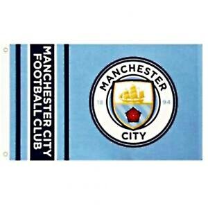 Manchester City Offiziell Crest Fußball Fahne 1520mm x 910mm (Bst )