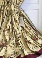 "Huge Zoffany Reveillon lined, interlined blackout curtains 94"" length."