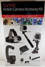 SUNPAK ACTION CAMERA ACCESSORY KIT WORKS WITH GOPRO NIKON & SONY