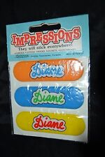 Vtg 80's IMPRESSIONS PUFFY Stickers Name DIANE by CONTENOVA Sealed! RARE