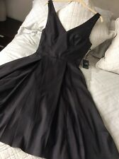 BNWT Adrianna Papell Black Fit Flare Evening Prom Dress UK 8/10 RRP $149