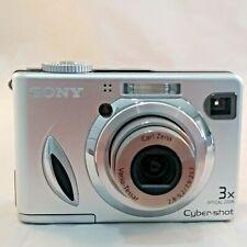 Cyber Shot Digital Camera 3X Optical Zoom Sony  DSC-W7 7.2MP Silver With Case