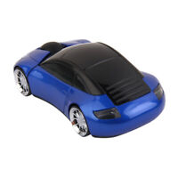 2.4GHz Blue Wireless 3D 1600DPI Car-Shape Optical Usb Gaming Mouse Mice