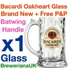 Single Bacardi Oakheart 35cl Glass Tankard Brand New 100% Genuine Official