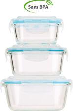 Boîtes de conservation en verre avec couvercles à clipser (x3) - Rosenstein & S
