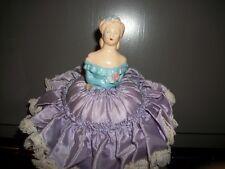 chalkware lady, vintage pincushion. wonderful cond.