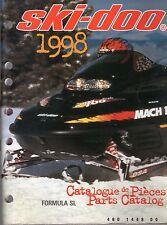 1998 SKI-DOO FORMULA SL SNOWMOBILE  PARTS MANUAL P/N 480 1448 00  (469)