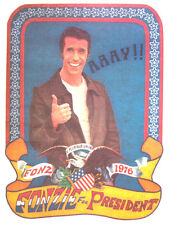 New listing Fonz For President T-Shirt Iron-On Heat Transfer Tv Happy Days Vintage Rare 70s