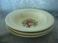 3 Collectible Vintage Salem Basket P.P. Berry / Dessert Bowls - Made in U.S.A.