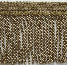 "6"" Bullion Fringe Antique Gold Matched Gimp Chair Ties Tassel Fringe Brush"