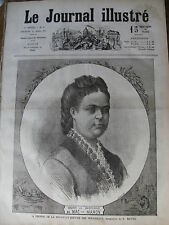 JOURNAL ILLUSTRE 1874 N 9 Mme LA MARECHALE DE MAC MAHON