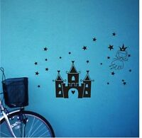 CASTLE princess stars Wall Decal Vinyl Stickers Art Decor Home KIDS Mural DIY