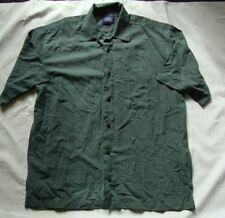 HAGGAR Collections hunter green check short sleeve shirt sz M