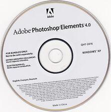 adobe photoshop elements 4.0, w/PC & MAC disks