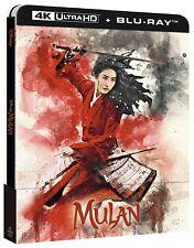 Mulan (Action movie) 4K Ultra HD (2020) 2 Blu Ray steelbook