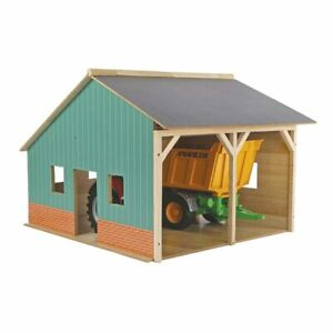 1/16 Wooden Farm Machinery 2 Bay Shed - Barn - Equipment - Building 610338
