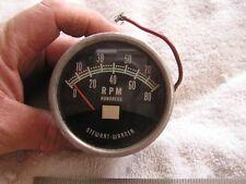 Vintage Stewart Warner 8000 Tachometer Green Line