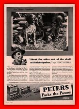 1943 AD  PETERS AMMUNITION BOXES HUNTER SETTER DOC PETERS SCRAP BRASS SALVAGE
