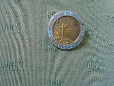 WW11 OBSERVER CORPS ( SO PRE 1941 ) QUALIFICATION LAPEL ENAMEL PIN BADGE