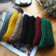 6 Pairs Lot Women Girl Wool Socks Vintage 8 Pattern Warm Casual Crew Socks