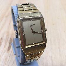 Vintage Seiko 6530 Men Gold Tone Ultra Thin Analog Quartz Watch Hour~New Battery