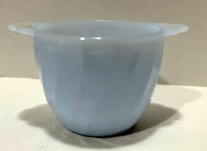 Vtg Anchor Hocking Fire King Azurite Swirl Sugar Bowl Blue Milk Glass