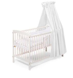 Babybett Gitterbett Beistellbett JULIA weiss 120x60 Komplettausstattung