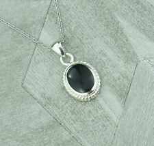 Sterling Silver January Capricorn Birthstone Pendant Necklace In Onyx