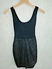 JANE NORMAN Negro Brillante Vestido-UK Size 8