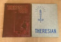 1953 1954 Theresian School Yearbook vintage high scrapbook set lot student