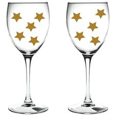 90 x gold stars / stars WINE GLASS VINYL STICKERS / DECAL xmas