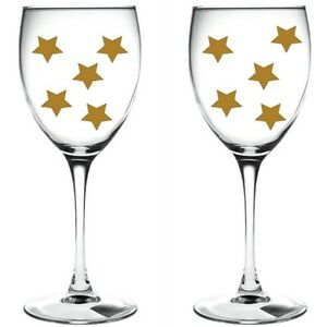 80 x gold stars / stars WINE GLASS VINYL STICKERS / DECAL xmas 2cm