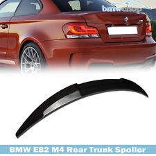 Carbon Fiber BMW E82 1-Series M4 Type FRP Trunk Boot Spoiler 128i 135i 07-13