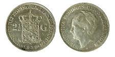 pcc1840_93) Netherlands  Wilhelmina - 2 1/2  Gulden 1939  Silver