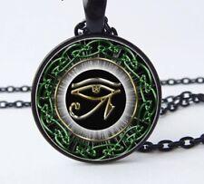 Oeil Horus Collier Pendentif symbole Égyptien Dieu égypte Médaillon Envoi Suivi