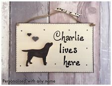Personalised Dog Name Sign Lives Here Plaque Labrador Retriever or Mixed Breed