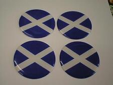 50mm (U6) Centro de Centro De Rueda De Aleación Insignias Escocia Escocés Bandera de San Andrés