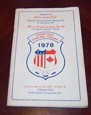 18th Internatioal Hockey Tournament March 18 1978 Orangeville Ontario