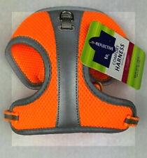 Top Paw Neon Orange Silver Reflective Mesh Comfort Dog Vest Harness XS