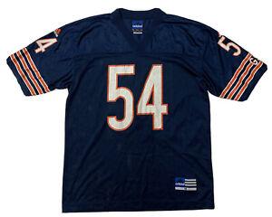 Vtg Chicago Bears Jersey adidas Team NFL Mens Medium #54 Brian Urlacher Blue