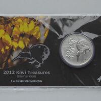 Neuseeland Kiwi - 2012 - Silber Im Blister $1  Munzen- 1 OZ  Kiwi Treasures!!!