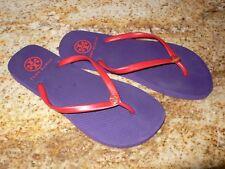 d9b795d7f1d981 Tory Burch Thin Strap Flip Flops Slippers Purple Red