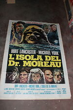 manifesto cinema L'ISOLA DEL DR.MOREAU 1977