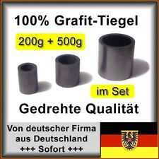 2x Präzisions-Grafittiegel, 200g+500g Gold Tiegel Grafit Giessen Schmelztiegel